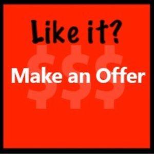 We welcome reasonable offers!